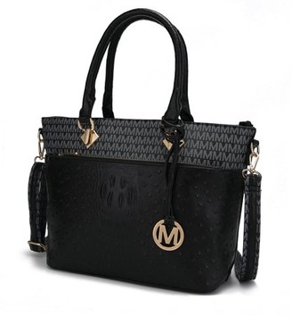 Mkf MKF Collection Grace Signature and Croc Embossed Tote Bag by Mia K. Farrow