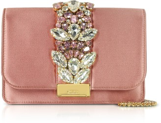 Gedebe Blush Satin Cliky Clutch