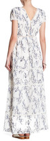 Lucca Couture Ladder Trim Floral Pattern Maxi Dress