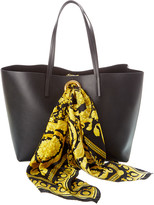 Versace Barocco Leather Tote
