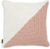 UGG Colorblock Crochet Feather-Fill Pillow