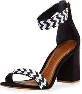 Carrano Talia Beaded Chunky Sandal, Black