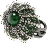 Arunashi Demantoid Sea Urchin Pearl Ring