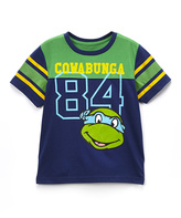 Freeze Navy TMNT 'Cowabunga' Football Tee - Toddler & Boys