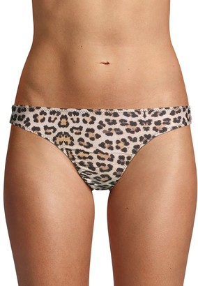 Mouille Leopard-Print Bikini Bottom