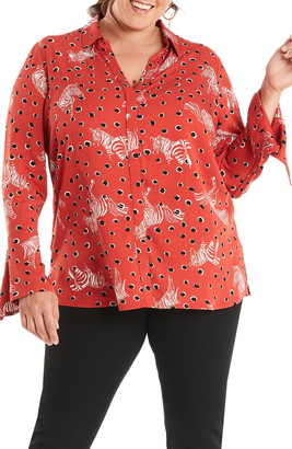Estelle Serengeti Print Button-Up Shirt