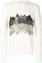 Etro mountain print jumper