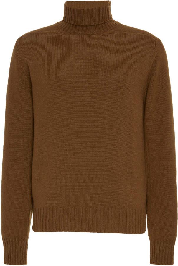 eidos Wool Ribbed Turtleneck Sweater