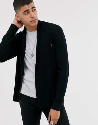 AllSaints knitted cardigan in black