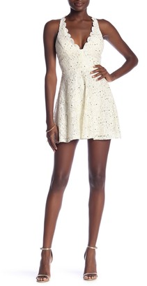 Jump Glitter Lace Racerback Party Dress