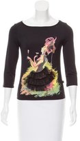 Just Cavalli Graphic Printed Long Sleeve Top