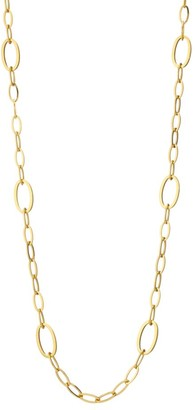 Brera Via 18K Yellow Gold Oval Link Necklace