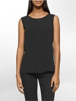 Calvin Klein Pleated Sleeveless Shell
