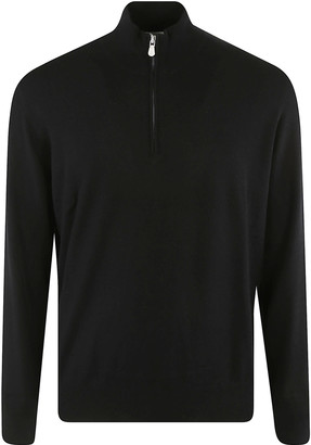 Brunello Cucinelli Half Zip Ribbed Sweater