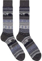 Paul Smith Grey Pattern Socks