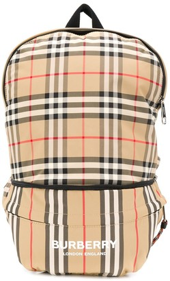 BURBERRY KIDS Signature Checked Print Backpack