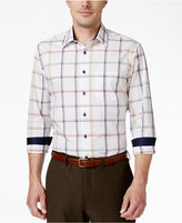 Tasso Elba Men's Big and Tall Check Long-Sleeve Shirt, Classic Fit