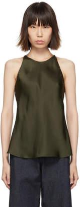 Rosetta Getty Green Back Camisole Top