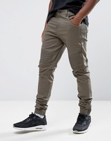 Criminal Damage Skinny Fit Biker Jogger Chino