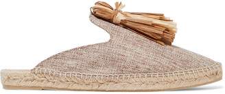 Castaner Rumi Faux Raffia-trimmed Woven Espadrille Slippers