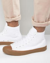 Converse Chuck Taylor All Star II Hi Sneakers With Gum Sole In White 155497C