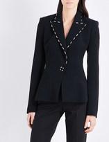 Thierry Mugler Stitch-detailed crepe jacket