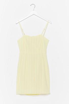 Nasty Gal Womens How Did You Bow Mini Dress - Yellow - 6