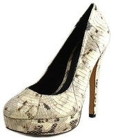 House Of Harlow Norah Women Round Toe Leather Heels.