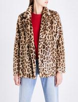 Theory Clairene leopard-pattern faux-fur jacket