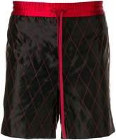Gucci logo tape track shorts