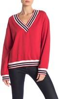 Rebecca Minkoff Kristine Striped Contrast Sweater