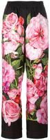 Dolce & Gabbana rose print palazzo pants