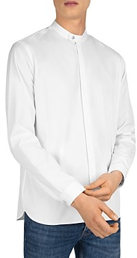 The Kooples Faille Band-Collar Slim Fit Shirt