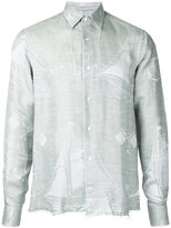 Loewe fringe boat shirt - men - Silk/Cotton/Linen/Flax - 38