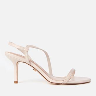 Dune Women's Mojos Leather Heeled Sandals - Ecru