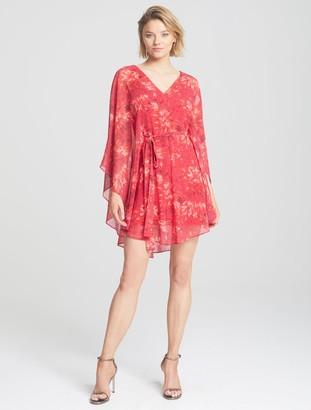Halston Cape Overlay Dress