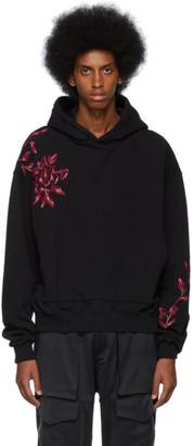 Nahmias Black Floral Embroidery Hoodie