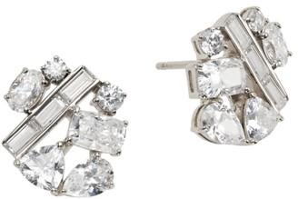 Adriana Orsini Rockslide Plated Silver & Cubic Zirconia Stud Earrings