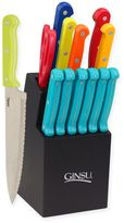 Ginsu Essential Multi 14-Piece Cutlery Set with Steak Knives in Turquoise