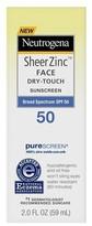 Neutrogena Sheer Zinc Face Lotion - SPF 50 2oz