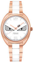 Fendi Stainless Steel Diamond Bug Watch, Rose