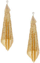 Ettika Gold Plated Brass Mesh Chain Statement Earrings
