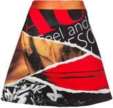 Moschino magazine print A-line skirt