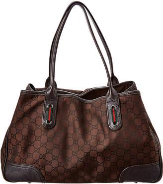 Gucci Brown Nylon & Leather Princy Tote