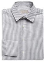 Canali Striped Cotton Dress Shirt