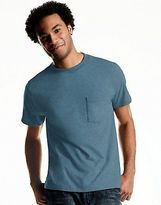Hanes Men's ComfortSoft Cool DRI Dyed Crewneck TAGLESS Pocket Undershirt 4Pk
