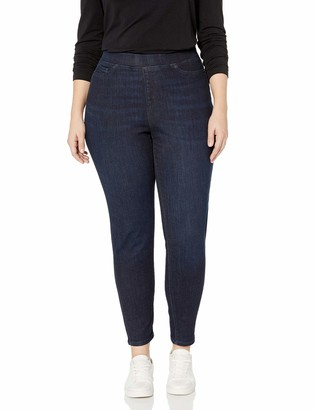 Amazon Essentials Plus Size Pull-On Skinny Jegging jeans Blue(dunkle Waschung) 34 Short UK (30 Short)