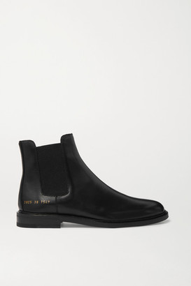 Common Projects Leather Chelsea Boots - Black