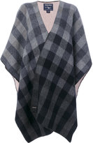 Woolrich reversible cape - women - Cotton/Polyamide/Wool - One Size