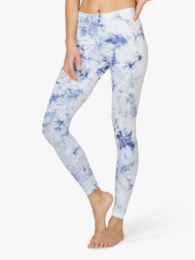 Thought Aminah Tie Dye Leggings, White/Blue